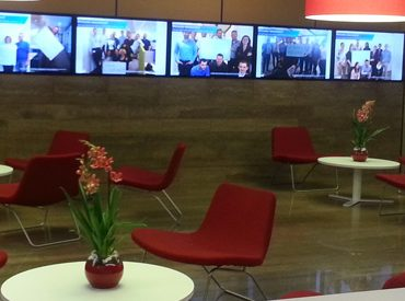 Corporate Communication TV Signage