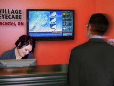 Welcome Desk Display in healthcare
