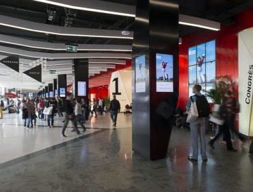 Digital Advertising in Palexpo exhibition center
