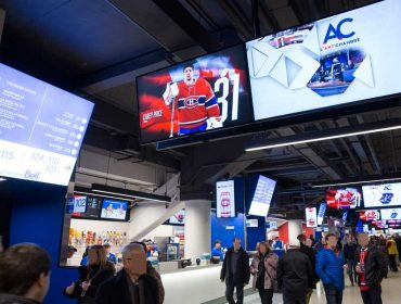 Navori QL powered stadium displays at Bell Center, Montreal, Canada