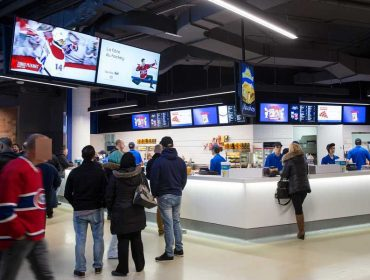 Dual-displays powered by Navori QL at Bell Center, Montreal, Canada